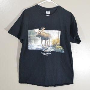 Y2K Era Canada Canadian Moose Portrait Shirt